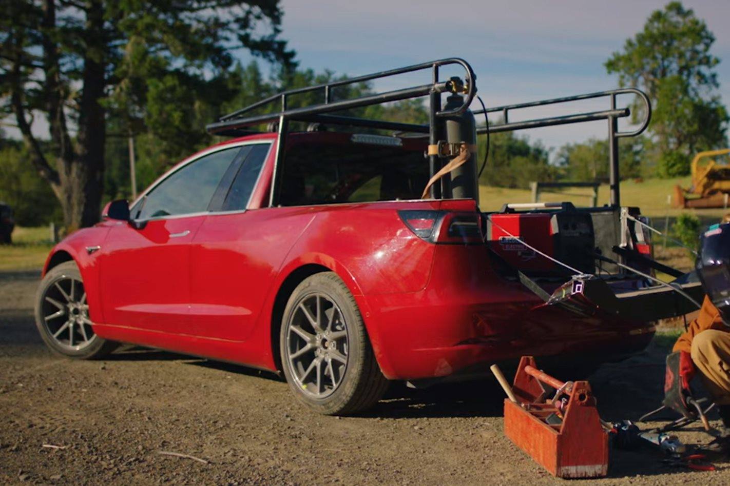 Someone Went And Built A Tesla Model 3 Ute Yes Really