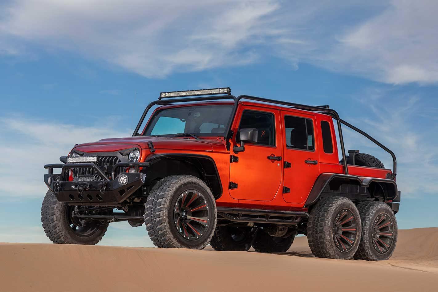 Hellcat V8 Powered Jeep Jk Wrangler 6x6 Ute Feature 4x4 Australia