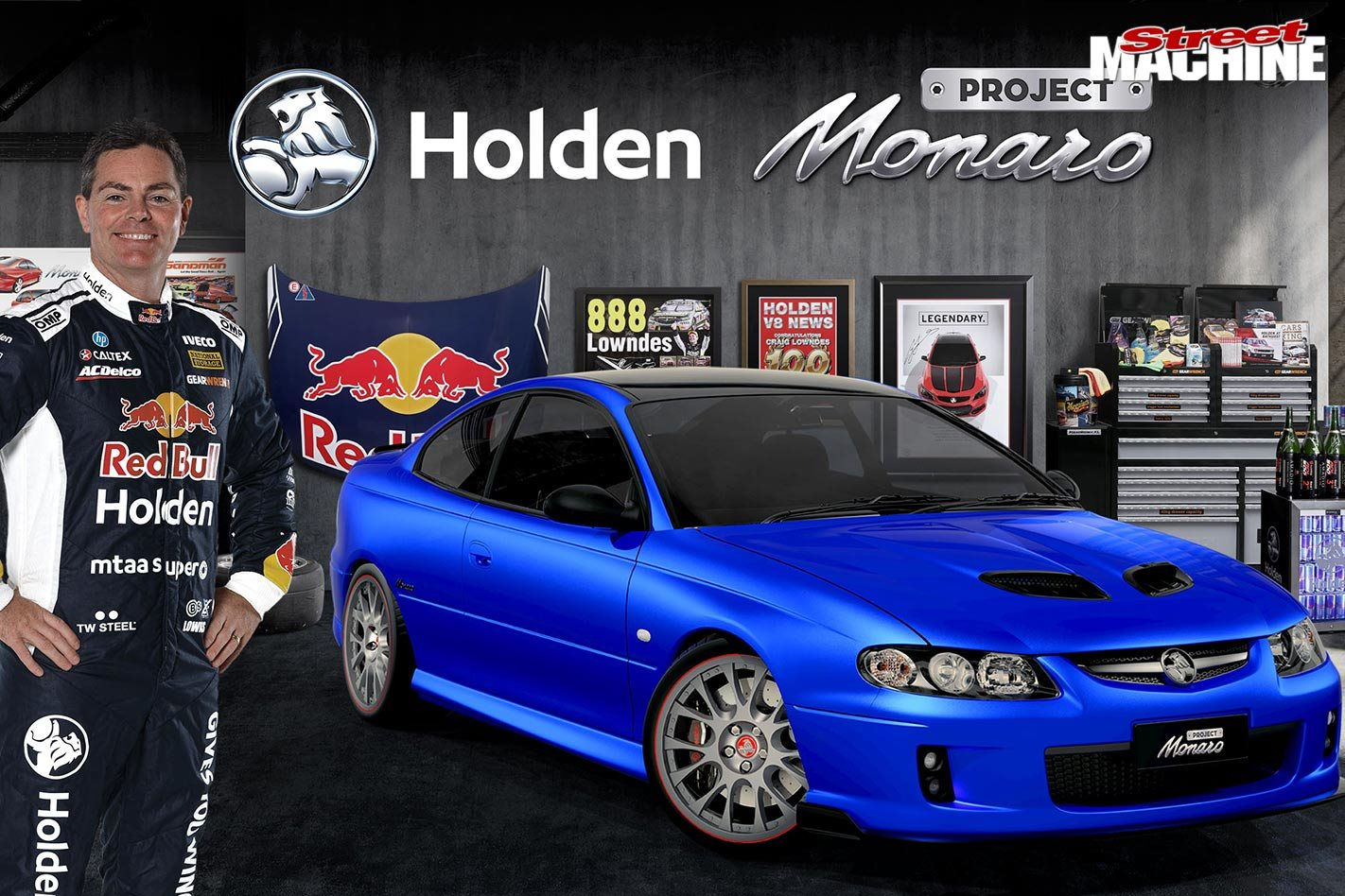 craig lowndes  holden launch project monaro