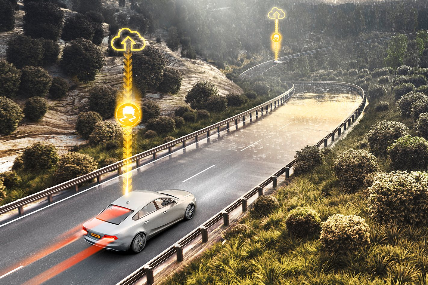 Stability control of the future will be able to predict wet roads