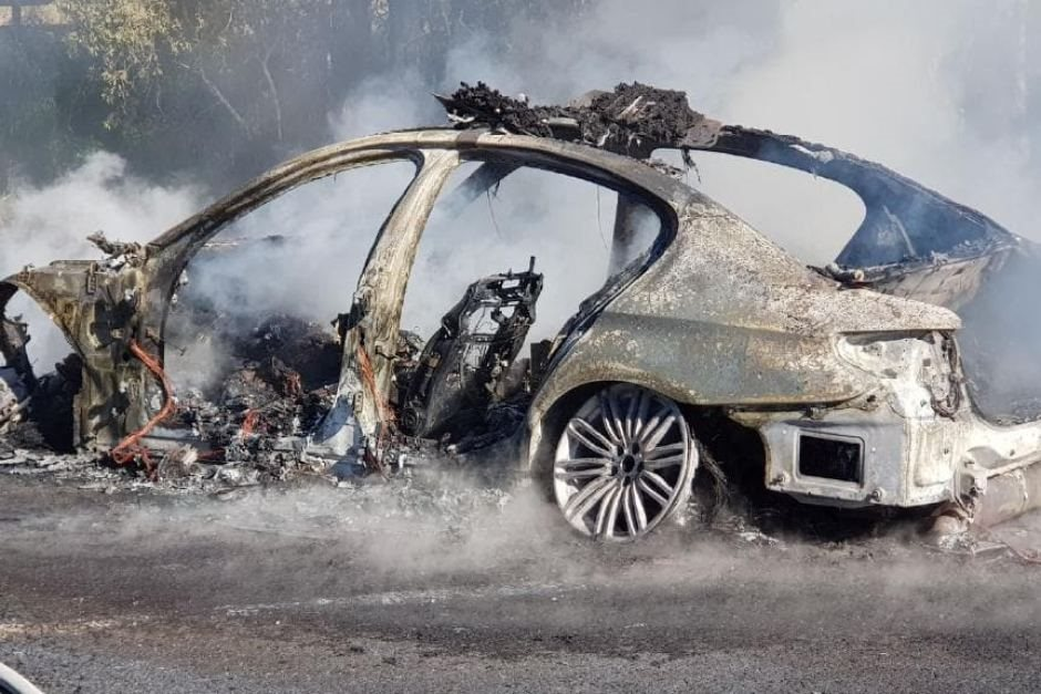 Hot fuzz: $100,000 BMW police car destroyed by fire
