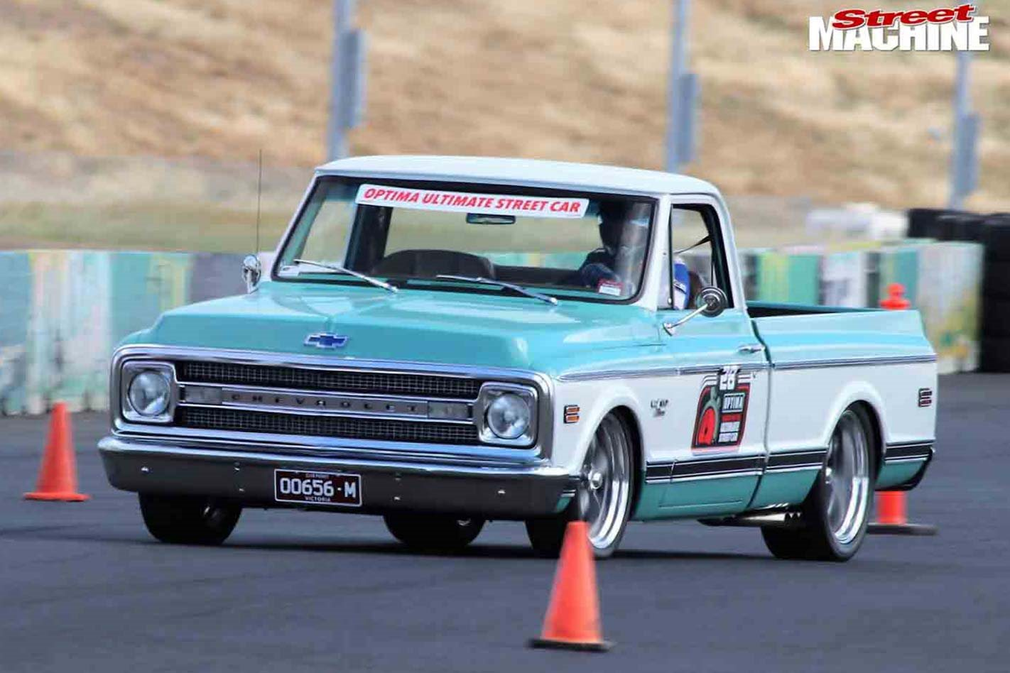600hp Chevy C10 pick-up at the Optima Search For The Ultimate Street Car challenge