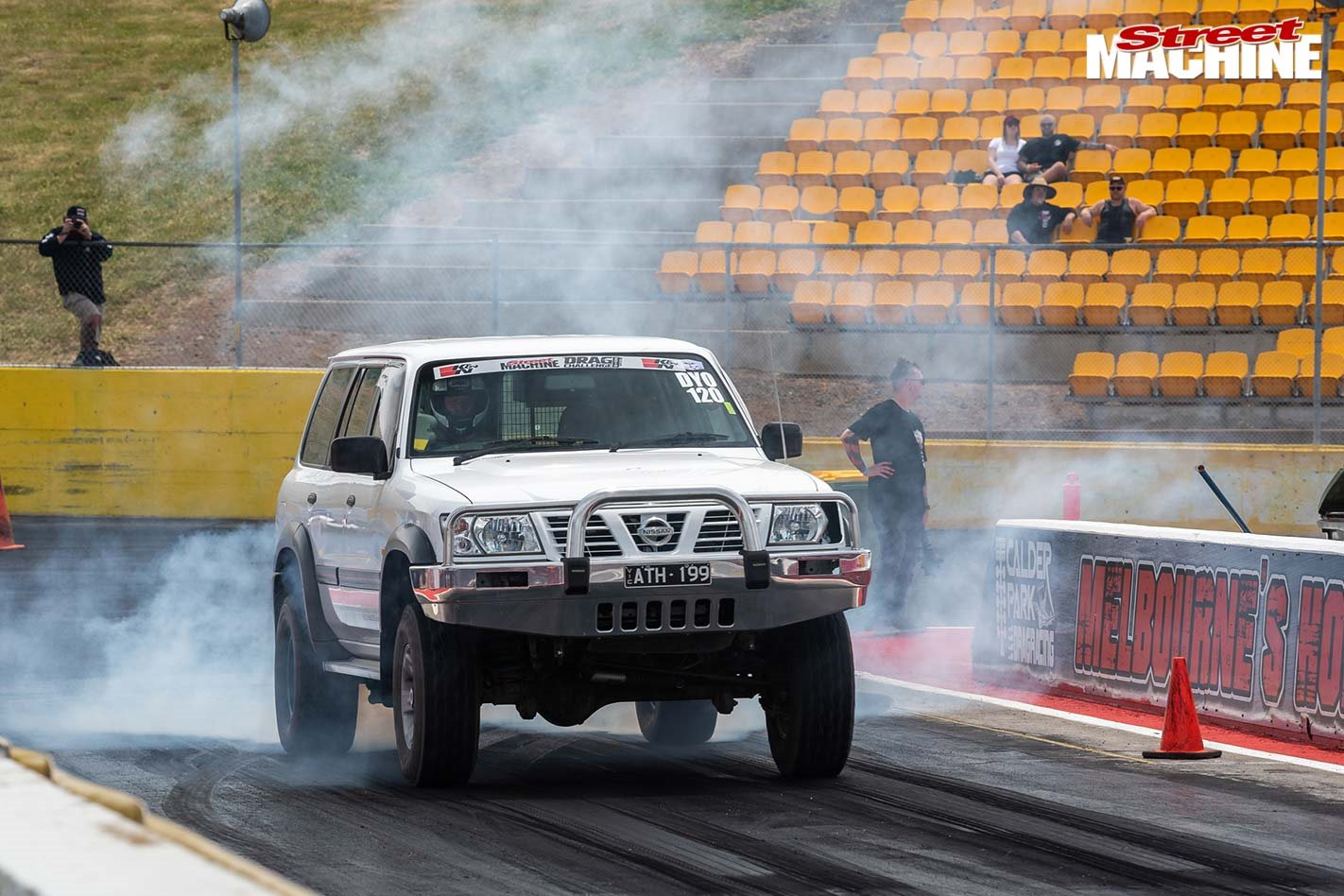 Geoff Stone's 2000 L98-powered Nissan Patrol at Drag Challenge 2019