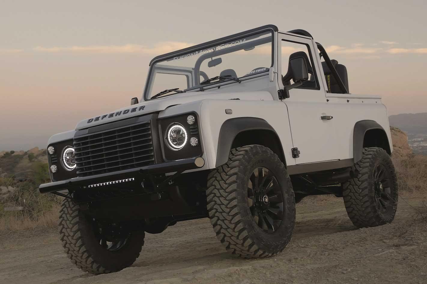Defender 90 gets supercharged LSA V8: video