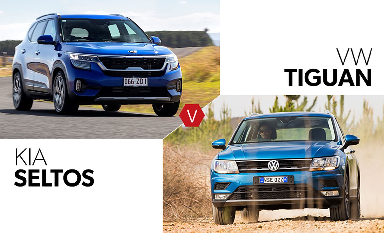 Buy the new Kia Seltos GT-Line or get a used Volkswagen Tiguan 132TSI Comfortline