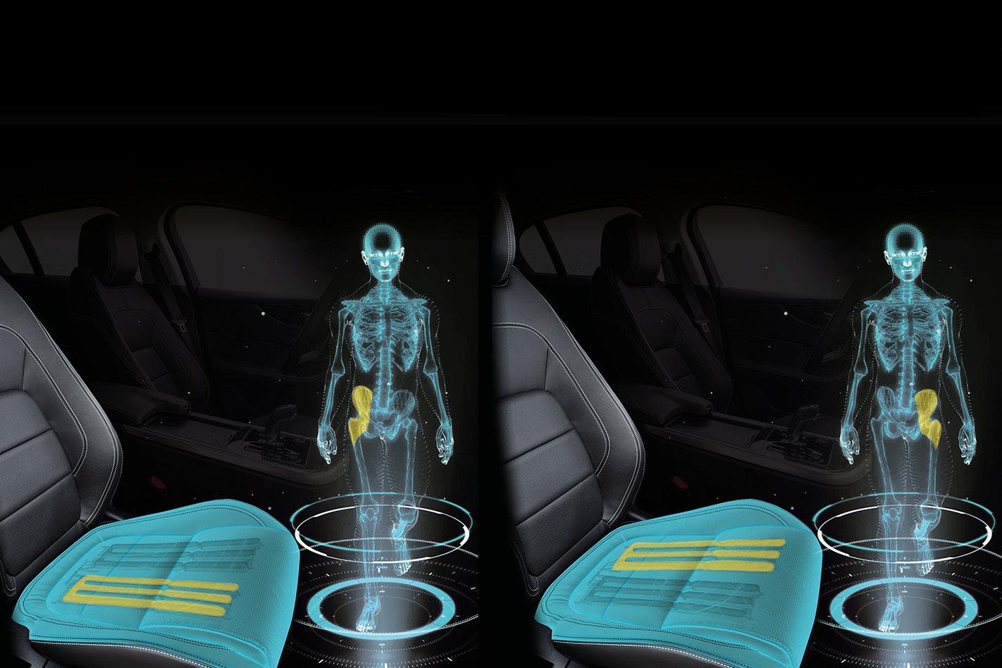 Jaguar develops car seat that simulates walking