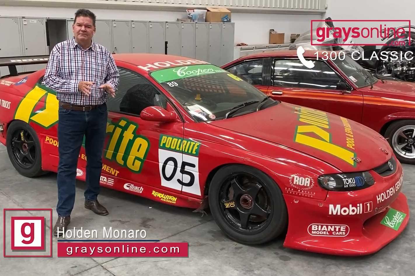 Peter Brock's 2003 Nation's Cup Holden Monaro set to go under the hammer