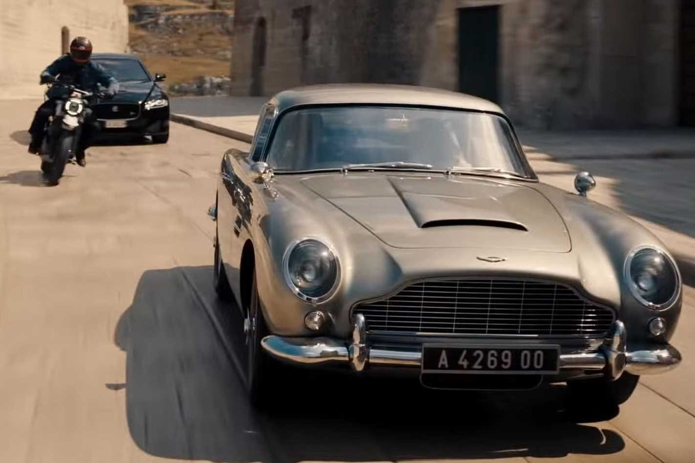 The No Time to Die Aston Martin DB5 stunt car with an M3-engine
