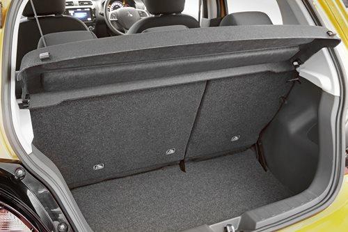 Mitsubishi Mirage boot space