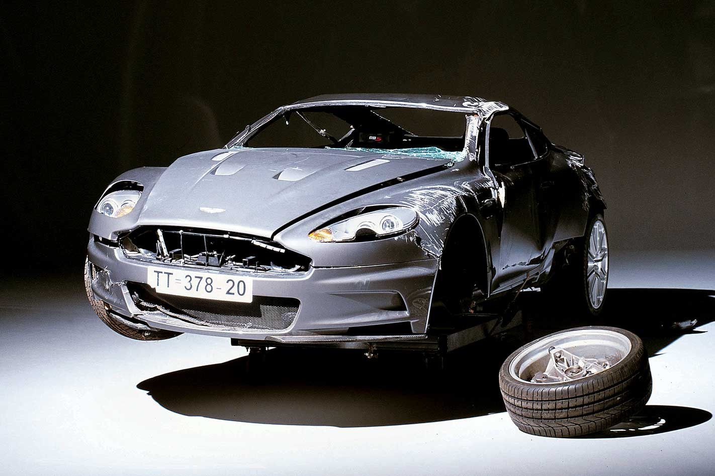The Aston Martin Dbs Behind The James Bond Casino Royale Stunt