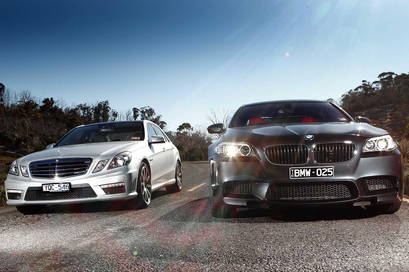 2010 Super Sedan Stoush Bmw M5 Vs Mercedes Benz E63 Amg Comparison