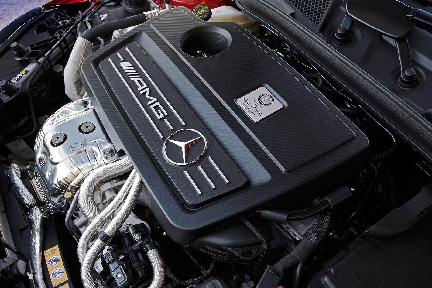 Mercedes AMG A45 engine compartment