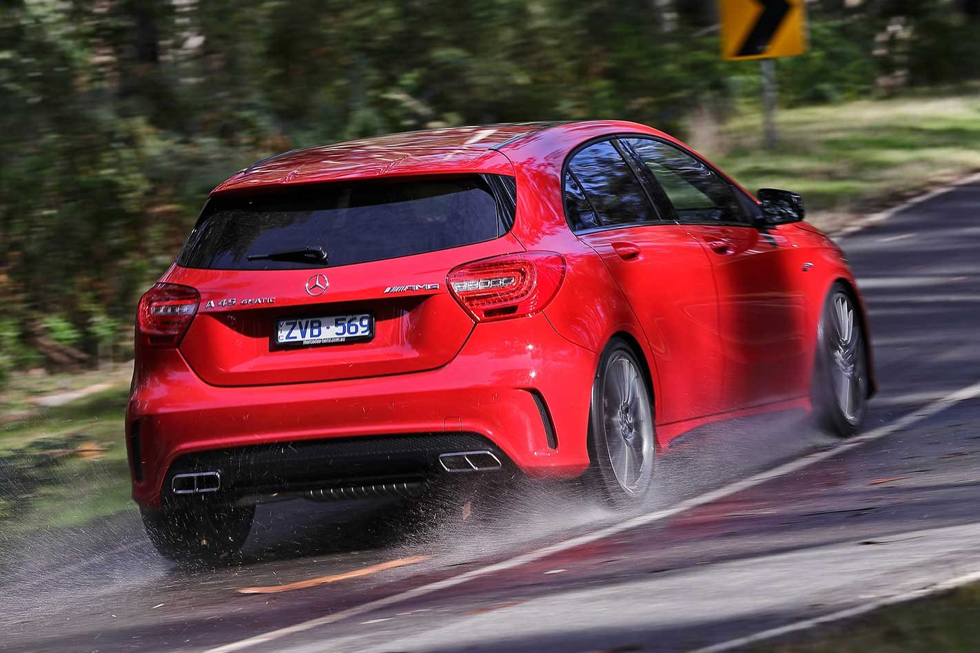 Mercedes-Benz AMG A45 on the move
