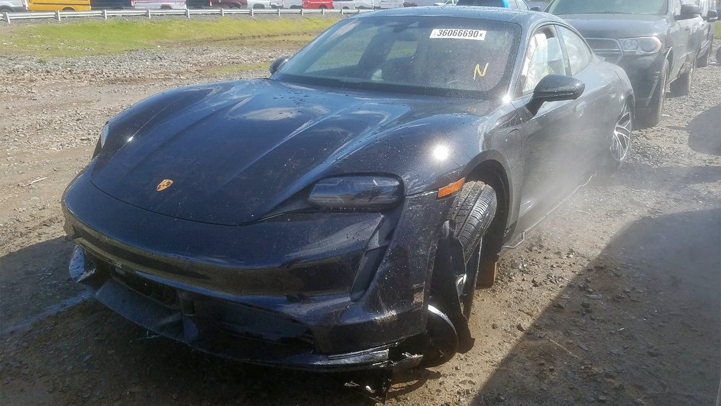 Porsche Taycan Turbo wrecked after just 25 kilometres