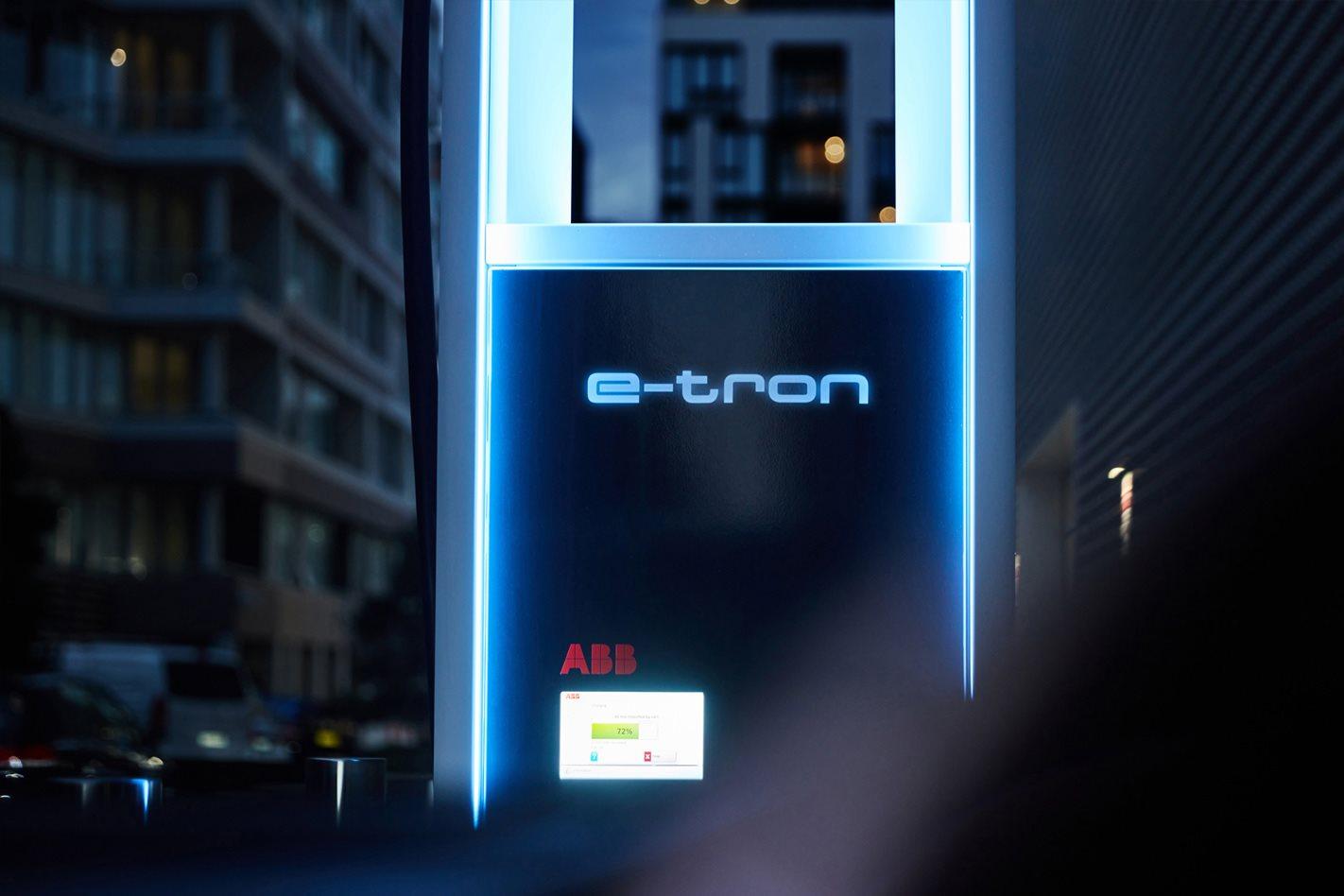 Audi E-Tron charging station