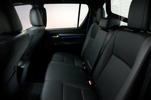 Toyota Hilux dual cab rear seats