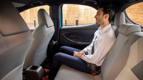 Yaris rear seat