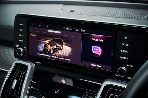 Kia Sorento 10.25-inch touchscreen