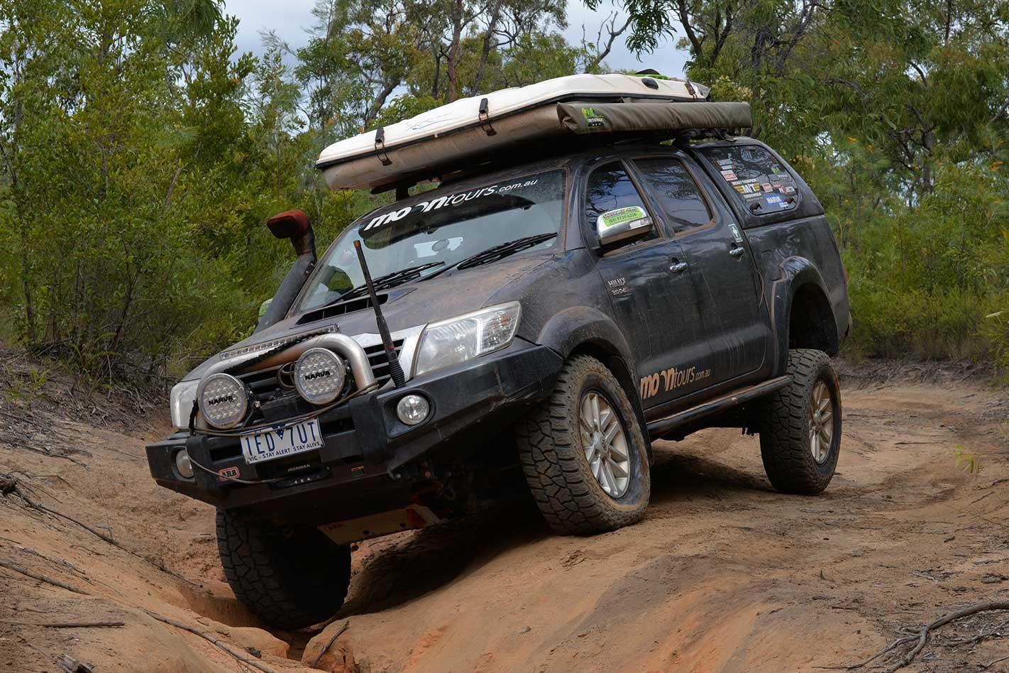 Toyota Hilux 3.0TD in the 4x4 shed
