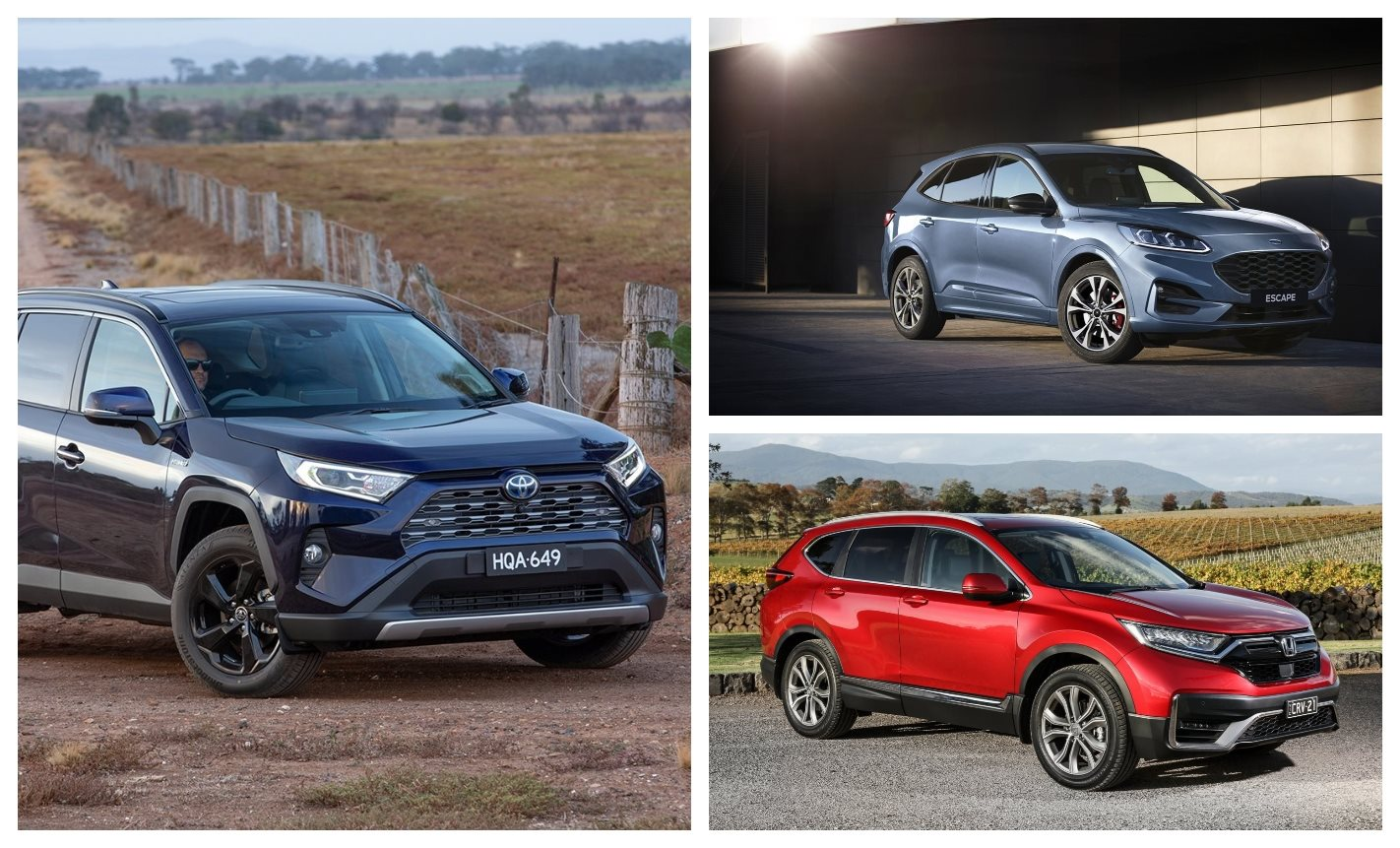 Ford Escape v Toyota RAV4 v Honda CR-V spec comparison
