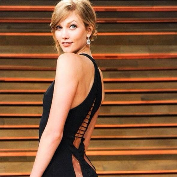 Karlie at the Vanity Fair Oscars after party earlier this year
