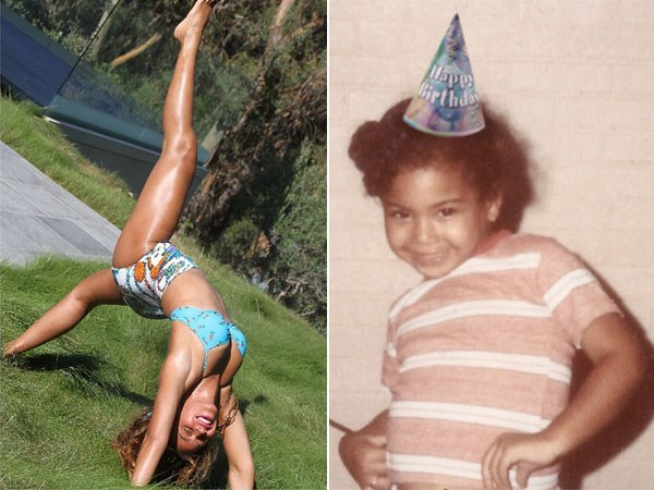 Bey also shared a cute throwback shot of herself in honour of her birthday. Image: Instagram/Tumblr