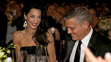 George Clooney and fiance Amal hit the red carpet in Italy