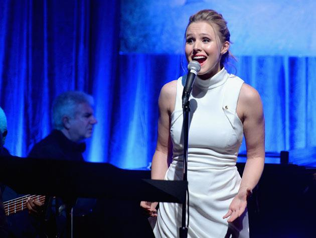 Who knew Kristen Bell had such a great set of pipes? The *Forgetting Sarah Marshall* star blew us away as a Disney princess in *Frozen*, and it turns out she's actually grown up with opera training and even started a degree in musical theatre. Image: Alberto E. Rodriguez