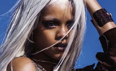 Rihanna goes silvery grey for Tush Magazine