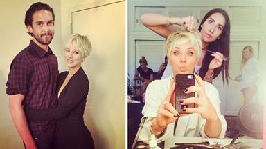 Kaley Cuoco-Sweeting gets a platinum blond pixie cut