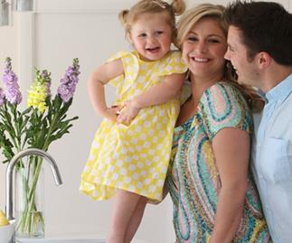 Toni Street and husband and daughter Juliette