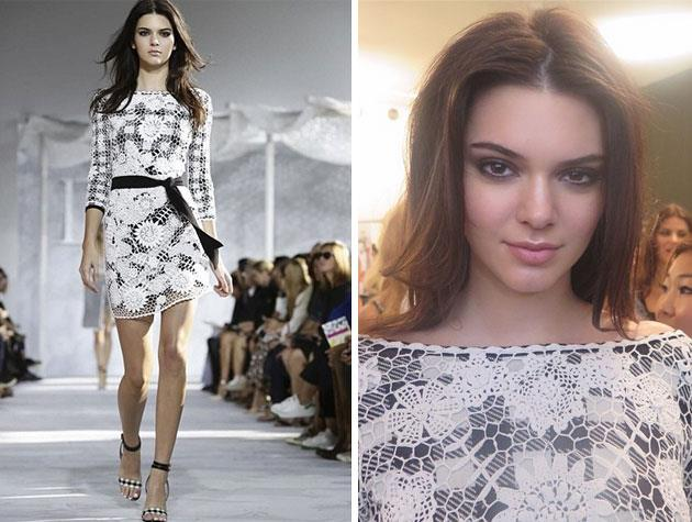 At the Diane Von Furstenburg show, Kendall rubbed shoulders with the model elite - including Naomi Campbell!