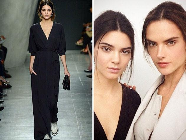 Kendall worked with top model Alessandra Ambrosio at the Bottega Veneta show.