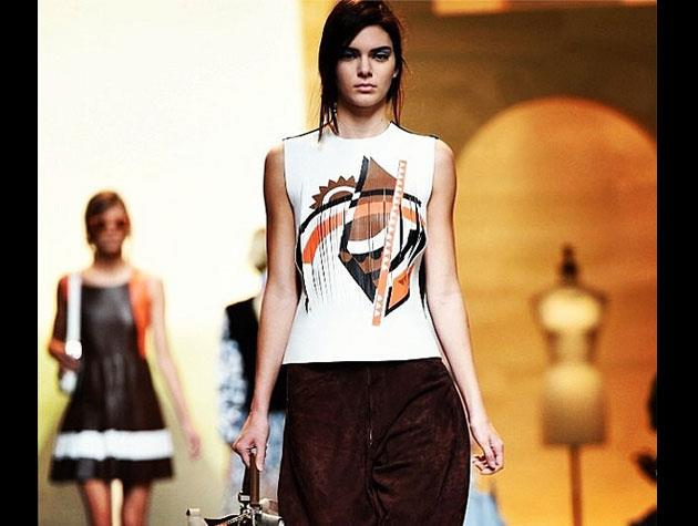 Proud sister Kourtney snapped this shot of Kendall at the Fendi show.