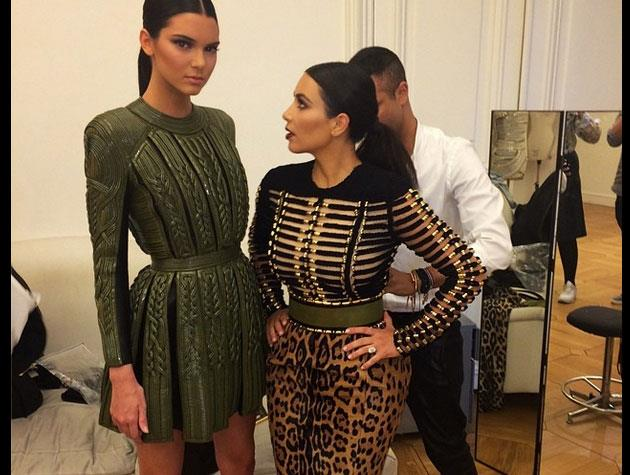 Both she and Kim wore Balmain to the Vogue Foundation Gala in July.