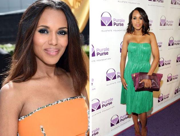 *Scandal* star Kerry Washington looks gorgeous with her long bob!
