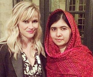 Reese Witherspoon and Malala Yousafzai