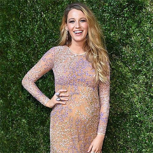 Blake stunned on the red carpet in a Michael Kors Resort 2015 gown.