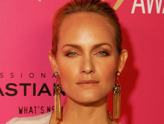 "Model and actress Amber Valletta says she's ""obsessed"" with eye creams and loves doing a strong brow. Image: Glenn Francis"