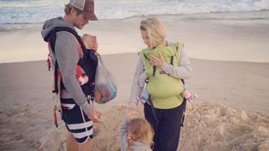 Chris Hemsworth's family beach fun