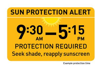 The Sun Protection Alert is available from the start of daylight saving through to April, on MetService.com, MetService weather apps and your daily newspapers.