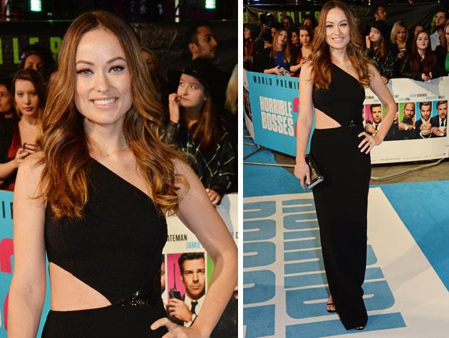 Olivia Wilde's Michael Kors dress flatters her in all the right places! Image: Twitter