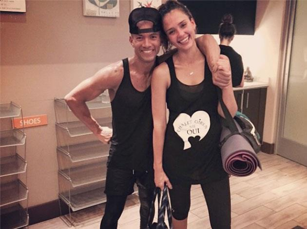 Jessica Alba is regularly snapped in her yoga gear. Image: Instagram