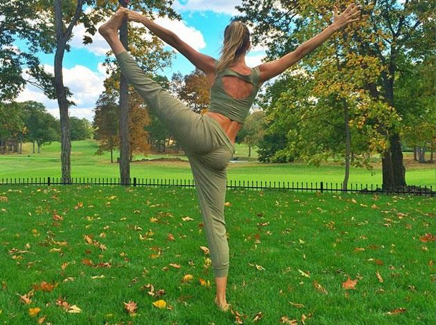 Supermodel Gisele also likes to share her yoga poses on Instagram.