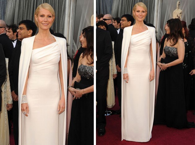 Gwyneth Paltrow stunned in this white Tom Ford creation. Image: Getty