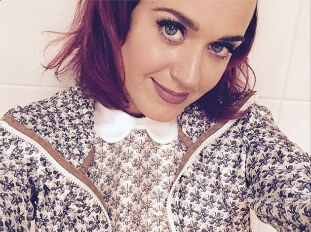 Katy Perry shared this Instagram snap of her vibrant purple-hued hair.