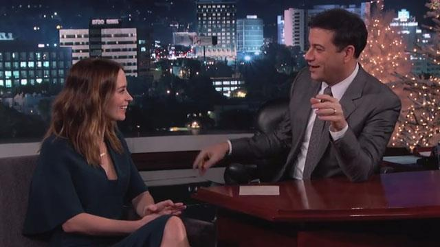 Emily Blunt and John Krasinski prank Jimmy Kimmel for Christmas