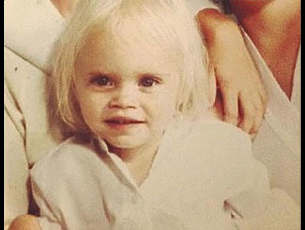 Top model Cara Delevingne posted this adorable picture of herself as a baby.
