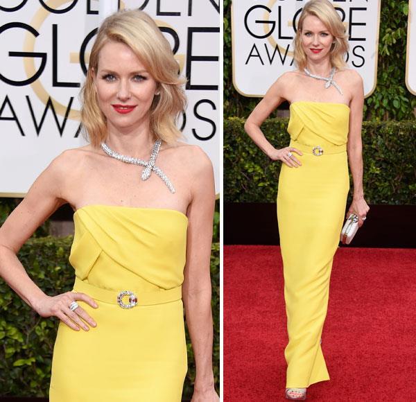 Naomi Watts debuts dazzling Golden Globes look