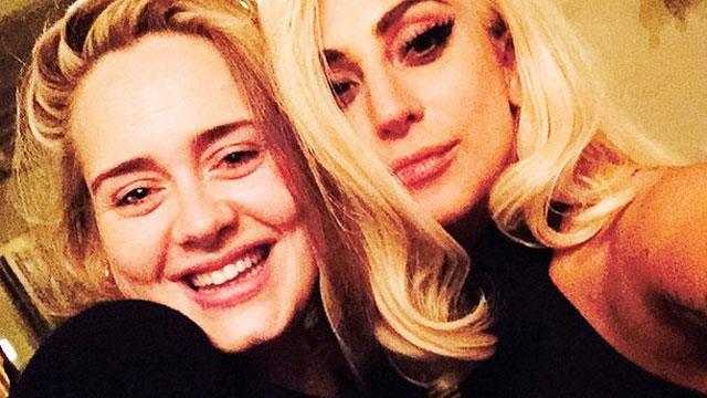 Lady Gaga, Adele, selfie